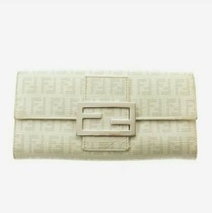 🎉Host Pick Auth Fendi zucchino long bifold wallet
